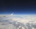 O céu visto de um aviao-voo