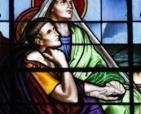 Imagem de santa Monica e santo Agostinho - Arautos do Evangelho Divina Providencia